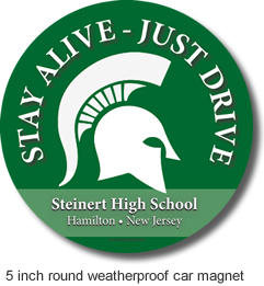 Steinert High School Car Magnet - 5 Inch Round - Weatherproof